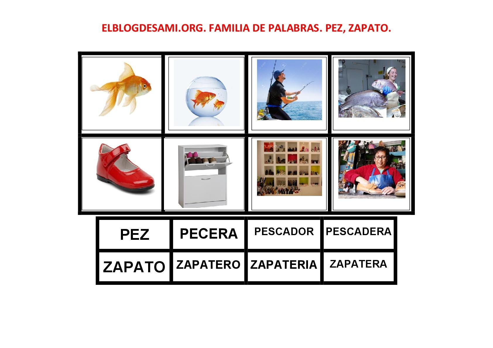 org Palabras Vocabulario 001 Elblogdesami Familia Zapato 1 Pez De PwTqxd4