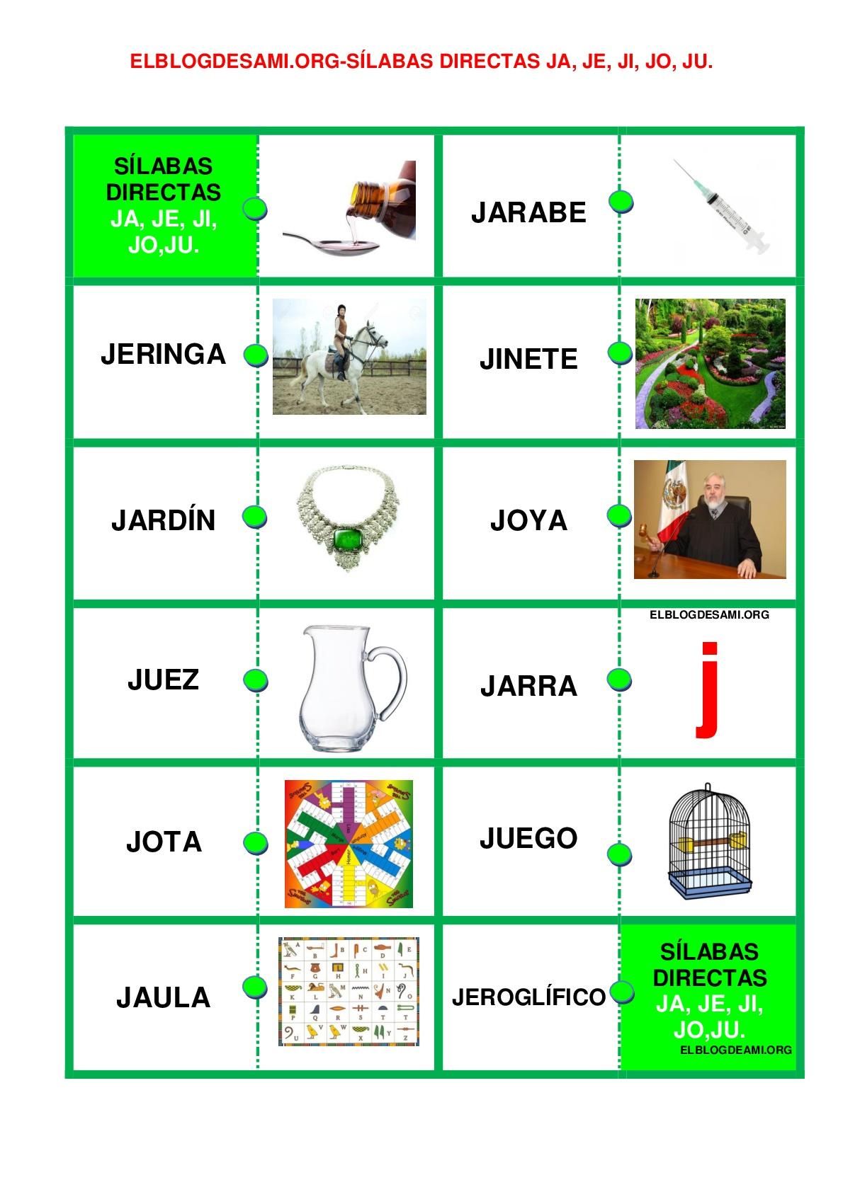 Imagenes Con Ja Je Ji Jo Ju